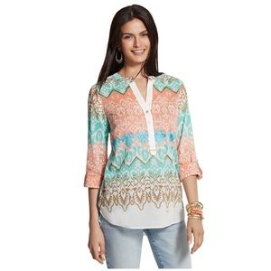 Chico's • batik beauty norah Top